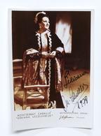 Musica Lirica - Autografo Del Soprano Montserrat Caballé  - 1978 - Autografi