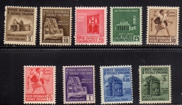 ITALIA REGNO ITALY KINGDOM 1944 RSI REPUBBLICA SOCIALE MONUMENTI DISTRUTTI II SERIE COMPLETA COMPLETE SET MNH - Mint/hinged