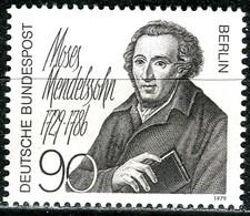 Berlin - Mi 601 - ** Postfrisch (A) - 90Pf                Moses Mendelssohn - Ungebraucht