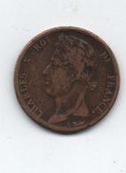 Pièce Charles X       Colonie  Petite Ancre Coté Gauche  Date  1825 A - France