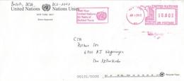 "United Nations 2003 New York Meter Pitney Bowes ""Paragon"" PB 6999951 EMA Tourism Cover - New York -  VN Hauptquartier"