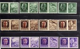 ITALIA REGNO ITALY KINGDOM REPUBBLICA SOCIALE RSI 1944 PROPAGANDA DI GUERRA FASCI SERIE COMPLETA MNH - 4. 1944-45 Repubblica Sociale