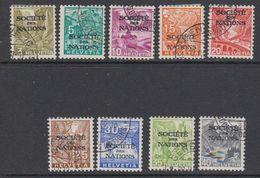 Switserland Dienst 1937 Societe Des Nations 9v Used (42187B) - Dienstzegels