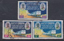Ethiopie N° 479 / 81  O Cinquantenaire De La Ligne Djibouti- Addis-Abeba Les 3 Valeurs Oblitérations Faibles  Sinon TB - Ethiopia