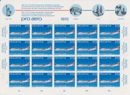 Switzerland 1972 Pro Aero 1v Sheetlet ** Mnh (F7702) - Luchtpostzegels