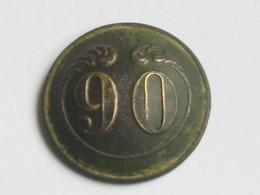 Ancien Bouton Militaire - Bombé - N° 90   **** EN ACHAT IMMEDIAT **** - Boutons