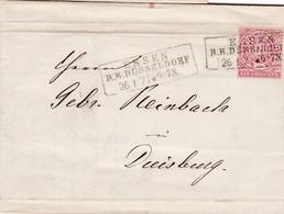 Brief Aus  Essen 1871 - Norddeutscher Postbezirk
