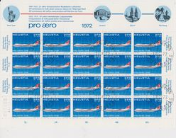 Switzerland 1972 Pro Aero 1v Sheetlet Used 1st Day (F7703) - Luchtpostzegels