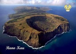 Easter Island Rano Kau Volcano Aerial View UNESCO New Postcard Osterinsel AK - Rapa Nui