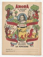 Protége Cahier , AMORA , Ses Verres Décorés LA FONTAINE,  2 Scans, Frais Fr : 1.75€ - Protège-cahiers