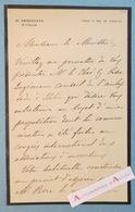 L.A.S 1900 Giuseppe TORNIELLI - Ambasciata D'italia Ambassadeur Paris Parigi - Lettre Autographe Italie Inventeur Pesee - Autographes