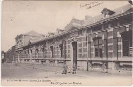 LA CROYERE-ECOLES-EDIT.D.V.D.-8964-MARTEAU-LADURON-ENVOYEE-1910-VOYEZ LES 2 SCANS-RARE+TOP ! ! ! ! - La Louvière