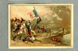 Chromo Louit Histoire 1796 Pont D'Arcole Napoleon Bonaparte Victorian Trade Card - Louit