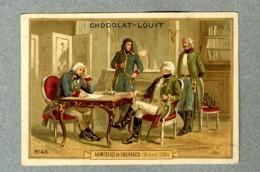 Chromo Louit 1796 Napoleon Bonaparte Armistice Cherasco Sardaigne Old Trade Card - Louit