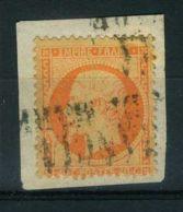 FRANCE ( POSTE )  :  Y&T  N°  23 TIMBRE  BIEN  OBLITERE , SUR  FRAGUEMENT . - 1862 Napoleon III
