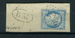 FRANCE ( POSTE )  :  Y&T  N°  ? , TIMBRE  BIEN  OBLITERE , SUR  FRAGUEMENT . - 1871-1875 Cérès