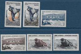 TAAF - YVERT N° 2/7 ** / MNH - ANIMAUX - COTE = 51.4 EUR. - Unused Stamps