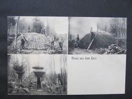 AK HARZ Köhler Köhlerei Berufe  Ca.1910 ///  D*37063 - Berufe