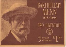 Pro Juventute / Barthélemy Menn / Feuillet Complet 1944 **, 5 Cartes Qualité Luxe - Cartes Postales