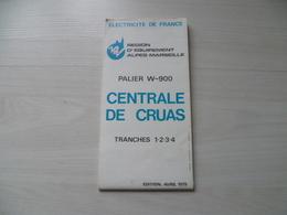 CENTRALE  NUCLEAIRE  DE CRUAS  ARDECHE   EDF  ELECTRICITE  AVRIL 1979 - Cartes