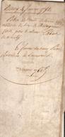 Vieux Papier Du Béarn, Vélin De 1791, Laban De Nousty Vend Une Châtaigneraie à Bouilhou De Limendous - Documents Historiques