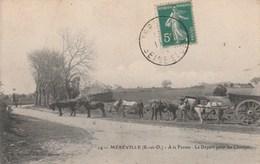 Mereville Au Depart Pour Les Champs Belle Carte - Mereville