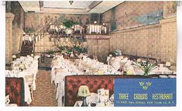 NEW YORK  THREE CROWNS  RESTAURANT       TBE    US294 - Cafés, Hôtels & Restaurants