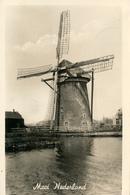 Voorschoten, Oranjeboom, Korenmolen, Windmill, Real Photo - Windmolens