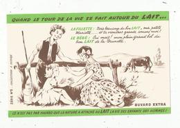 BUVARD , Quand Le Tour De La Vie Se Fait Autour Du LAIT, Série N° 5, Frais Fr : 1.55€ - Alimentaire