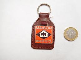 Porte Clés Sur Cuir , BTP , Maisons Phenix - Porte-clefs