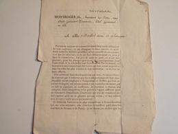 Courrier Publicitaire, 1814, Lettre De Sollicitation Vente Animaux Divers - Publicités