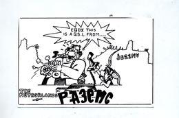Carte Radio Amateur  Theme Asterix Obelix - Sciences & Technique