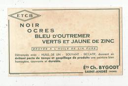 BUVARD , ETCB , Peinture,Ets. Ch. BYGODT ,SAINT ANDRE ,Nord , Frais Fr : 1.55€ - Non Classés