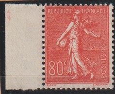 YT 203 ** 80c Rouge Semeuse - 1903-60 Sower - Ligned