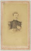 CDV Militaire 1870-80 Delaplace Au Grand Mourmelon - Camp De Châlons . Infanterie De Marine . - Old (before 1900)