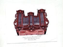 Carte  Renovation Orgue  Eglise Sierentz - Souvenir De...