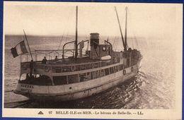 56 BELLE ILE EN MER Le Bateau De Belle-Ile ; Guédel - Animée - Belle Ile En Mer