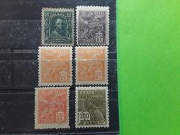 BRASIL / BRAZIL / BRESIL 1906- 1928 , Série Courante 6 Timbres Yvert No 130, 171 (×2),174,175 ,199, Neufs  TB - Brésil