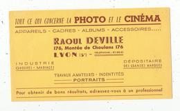 BUVARD, Photo ,cinéma , Raoul DEVILLE , Lyon , Frais Fr : 1.55€ - Non Classés