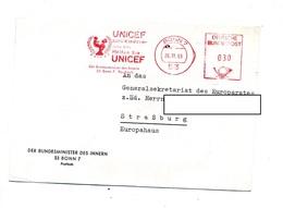 Lettre Flamme Ema Bonn Unicef  Entete Ministere - [7] République Fédérale