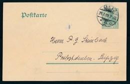 """REICH - Entier/Ganszache  Cachet """"METZ 2"""" Dd. 26-07-1909 - (ref. D-4) - Allemagne"""