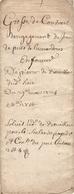 Vieux Papier Du Béarn, Limendous, 1725, Jean Puts Baille Une Demi-part Du Prat Commun à Bouilhou Pour 27 £ - Documents Historiques