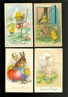 Beau Lot De 60 Cartes Postales De Fantaisie  Pâques   Mooi Lot 60 Postkaarten Van Fantasie  Pasen -  60 Scans - Postkaarten