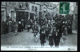 45, Sandillon, Cavalcade Au Profit De L'aviation Militaire, 24 Mars 1912, Les Cyclistes - Other Municipalities