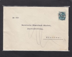 BRIEF MIT STUMMER STEMPEL. - Lettres & Documents