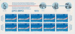 Switzerland 1972 Pro Aero 1v 10x (part Of Sheetlet)  ** Mnh (42187) - Luchtpostzegels