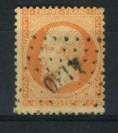 FRANCE ( POSTE )  :  Y&T  N°  23 , TIMBRE  BIEN  OBLITERE . - 1862 Napoleon III
