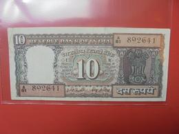 INDE 10 RUPEES 1969-70 CIRCULER - India