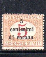 XP4295 - TRENTO TRIESTE 1919 , Sassone Segnatasse  N. 1 Usato . - 8. WW I Occupation