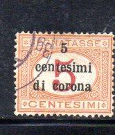 XP4296 - TRENTO TRIESTE 1919 , Sassone Segnatasse  N. 1 Usato . - Trentin & Trieste